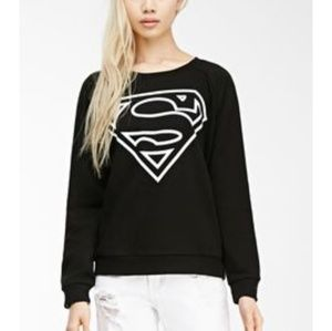 Forever 21/ DC Comics Superman Sweatshirt Black